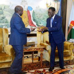 Le Secrétaire Général du Parti CNDD-FDD réçu en audience par le Président de la République de Guinée Equatoriale